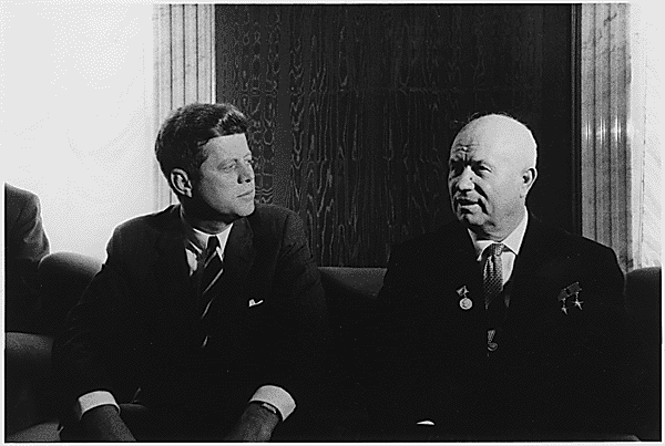 Kennedy and Khrushchev in Vienna, 1961.