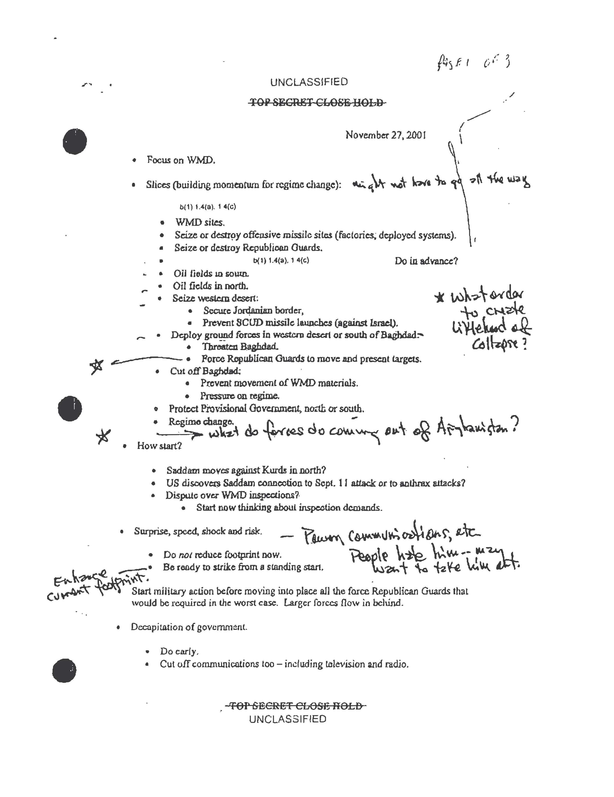 Rumsfeld Confirms Archive Analysis Unredacted