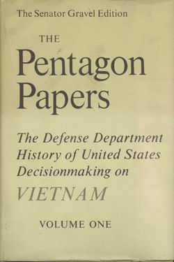 pentagon papers definition Learn about the 1971 leak of the pentagon papers, a secret us government document about the history of the vietnam war, which turned public.