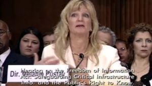 Melanie Pustay, director of the DOJ's Office of Information Policy, and her office are attempting to sneak through FOIA regs that would allow agencies to willfully mislead requesters. Pustay is seen here testifying before the Senate Judiciary Committee in March 2013.