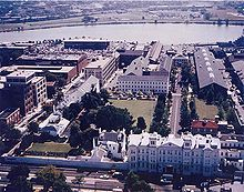 The Naval History and Heritage Command in Washington DC.  We would have used a picture of the NHHC logo, but its use is, fittingly, restricted. http://www.navy.mil/submit/display.asp?story_id=81117
