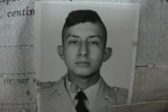 Jorge Vinicio Sosa Orantes as a young soldier. (Sebastian Rotella)