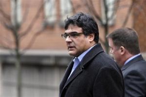 Kiriakou leaving the federal courthouse in Alexandria, VA, on January 23, 2012.