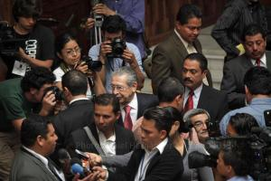 Ríos Montt leaves the Guatemalan tribunal, where he is being tried on genocide charges. (Photo credit: Daniel Hernández-Salazar)