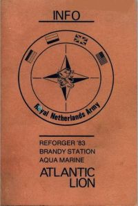 Dutch manual on Atlantic Lion and Reforger 83.  Provided by ****