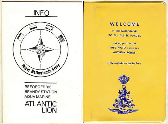 "Dutch ""welcome book"" for Allied Forced during Autumn Forge 83. From http://www.545thmpassn.com/Reforger.htm"