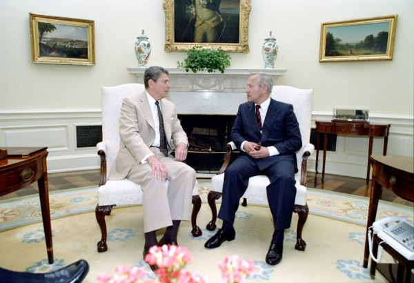 Reagan and Gordievsky.