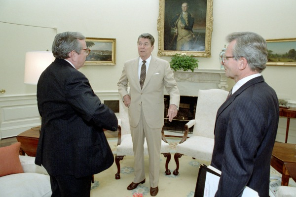 Reagan, Baker, and Carlucci.