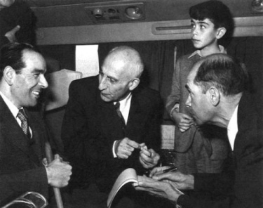 Iranian Prime Minister Mohammad Mosaddegh, overthrown in the 1953 coup.