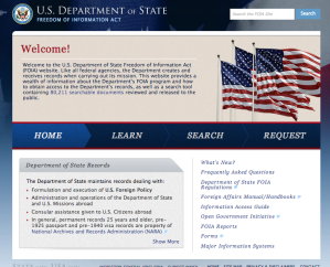 The Department of State's new FOIA site.