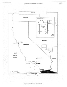The CIA's declassified map of Groom Lake/Area 51.