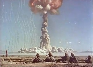 "According to the Army video, a nuclear explosion is ""one of the most beautiful sights ever seen by man."""