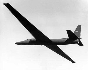 Early U-2 in flight. (Photo credit: CIA)
