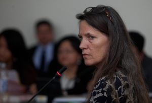 Archivist Kate Doyle testifies (photo credit: Saul Martinez).