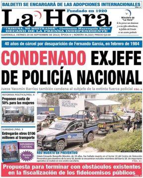 La Hora September 20, 2013.