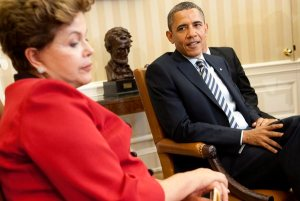 Brazilian President Dilma Rousseff recently cancelled her Washington visit over NSA surveillance practices. (Kevin Dietsch / Pool Photo / April 9, 2012)
