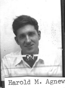 Harold Agnew's Los Alamos ID badge.
