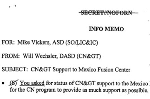 "The Top Secret Mexico Fusion Center barred Mexicans and focused on ""high value targeting."""