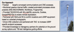 A slide from an internal NSA presentation indicating that the agency uses at least one Google cookie as a way to identify targets for exploitation. (Washington Post)