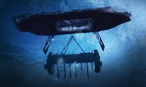 This computer-generated image depicts the recovery of the K-129 Soviet submarine that sank in the Pacific.(Courtesy of filmmaker Michael White)