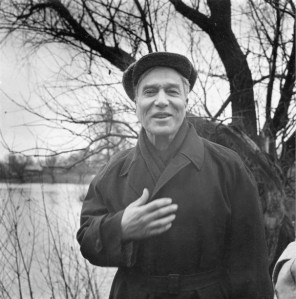 Soviet writer and poet Boris Pasternak near his home in the countryside outside Moscow on Oct. 23, 1958. (HAROLD K. MILKS/ASSOCIATED PRESS)