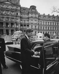 President Kennedy and President Joao Goulart on a state visit to Washington April 2, 1962.