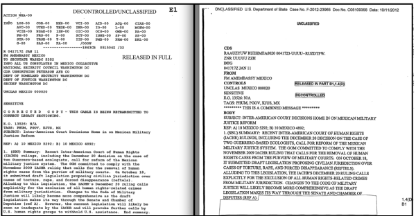 Take a look at the original, unredacted document, and the redacted version released a year later - by the same reviewer.