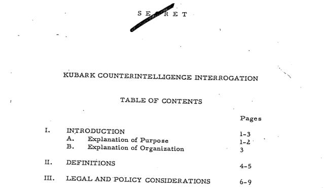 The 1963 KUBARK Manual.