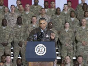 President Obama at Bagram air base outside Kabul.