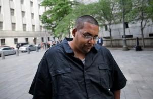 Hector Monsegur at his sentencing in New York. Photo: Seth Wenig/AP