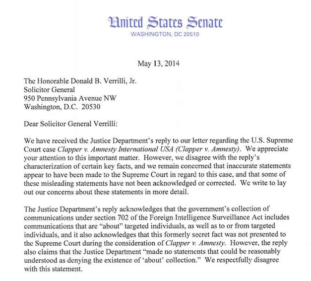 Justice Department Asks White House To Invoke Executive: FRINFORMSUM 5/15/2014: Senators Slam DOJ For Contributing