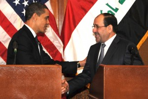 Barack Obama and Nouri al-Maliki (Source: Wikimedia Commons)