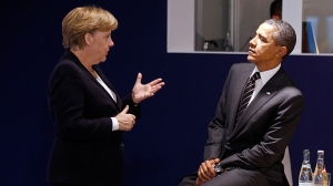 Germany's Chancellor Angela Merkel and President Barack Obama (Reuters / Kevin Lamarque)