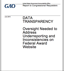 """Oversight Needed to Address Underreporting and Inconsistencies on Federal Award Website."""