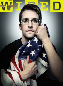 Edward Snowdens latest Wired cover. Photo: Platon/Wired
