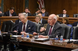 The Senate Judiciary added the FOIA Reform bill to its agenda this week. Pictured: Chuck Grassley (R-IA)(L) and Chairman Patrick Leahy (D-VT)(R).