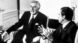 Gough Whitlam and Richard Nixon.