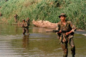 Rebel fighters in Nicaragua in 1987. Credit John Hopper/Associated Press
