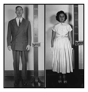 Police photos of Julius and Ethel Rosenberg (Source: Exhibits from the Julius and Ethel Rosenberg Case File, 03/13/1951 - 03/27/1951)