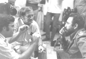 From left to right - Kirby Jones, Frank Mankiewicz, Fidel Castro. Photo courtesy Frank Mankiewicz.