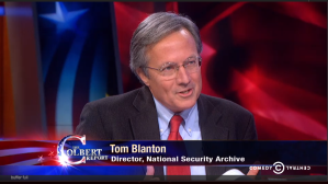 Watch Blanton's interview on the Colbert Report here. Interview begins around 10' mark.