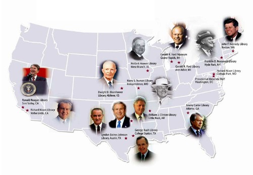 Presidential Records Act Gets New Teeth UNREDACTED - Us presidential libraries map