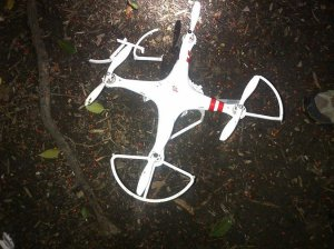 Drone that evaded WH radar system after crashing into a tree. Photo Credit: Secret Service.