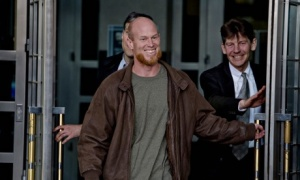 Eric McDavid, recently released from prison after the DOJ very belatedly released dox showing he was likely entrapped.  Photograph: Jose Luis Villegas/AP