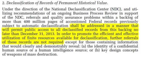 "Presidential Memorandum - Implementation of the Executive Order, ""Classified National Security Information"""