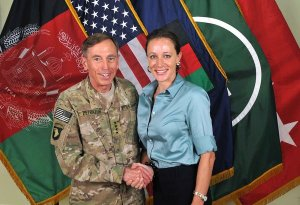 Petraeus and Broadwell in 2011. Photo: International Security Assistance Force.