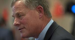 Sen. Burr (R-NC), pictured here on November 4, 2014, in Charlotte, NC, wants all copies of the CIA Torture Report returned to his committee. U.S. Rep. Thom Tillis (R-NC) is running in a tight race for the North Carolina Senate seat against opponent U.S. Sen. Kay Hagan (D-NC). (Photo by Davis Turner/Getty Images)