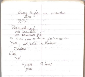Stop the Killings - Bushnell Notebook No. 3, page 74.