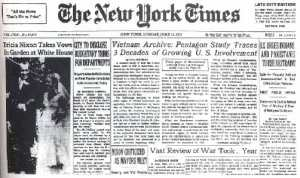 June 13, 1971: The New York Times begins to publish the Pentagon Papers.