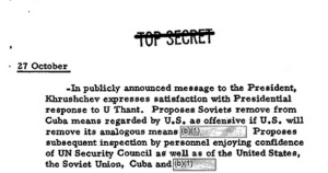 NARA's Dubious Secrets of the Cuban Missile Crisisi